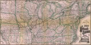 Pennsylvania Railroad Map by The Great Wabash Railroad System 1886