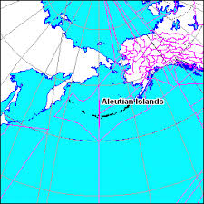 map of aleutian islands aleutian islands peakbagger com