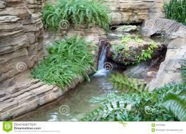 Indoor Garden by Indoor Garden With Waterfall Design Stock Photo Image 63792898