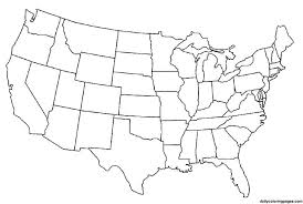 map of the united states united states map coloring page free