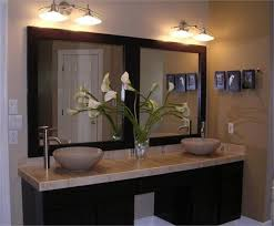 framed bathroom mirrors ideas bathroom cabinets white wooden frame wall mirror ikea