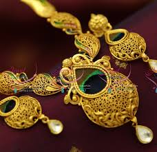 real gold necklace designs images Nl3689 one gram gold plated beautiful real look intricate jadau JPG