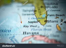 Map Uf Usa by Closeup Naples Florida On Political Map Stock Photo 373977439
