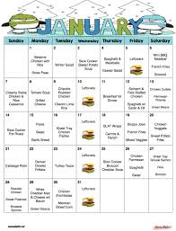 printable shot recipes january 2018 free monthly meal plan quick and easy kid friendly