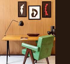 bureau noir design desk l agrafée deux rotules black h67cm serge mouille