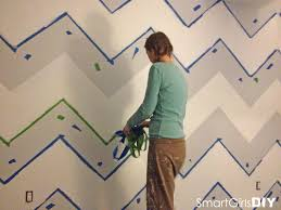 how to paint a chevron wall removing tape from chevron wall