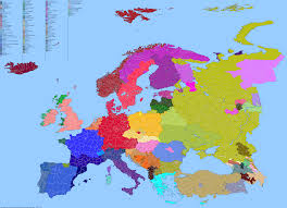 Language Map Of Europe by Language Map Of Europe Showing All Extant Languages 2845 X 2065