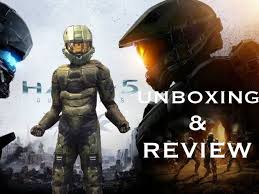 Halo Halloween Costumes Halo 5 Master Chief Disguise Costume Unboxing Review