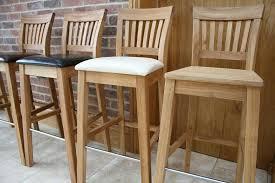chic white wooden breakfast bar stools decor of wooden breakfast