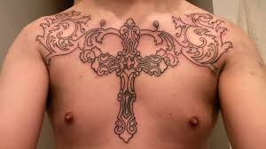 wonderfull pics cross tattoos on chest