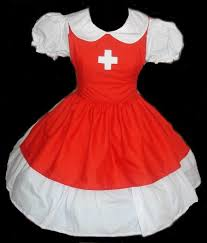 Size Nurse Halloween Costumes Cute Nurse Halloween Costume Dress Apron Red White Womens