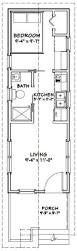 1 Bed 1 Bath New Tiny Home With Porch Meadow View House Plans