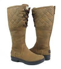 s ugg australia elsa boots ugg australia elsa deco quilt black leather fur boots womens