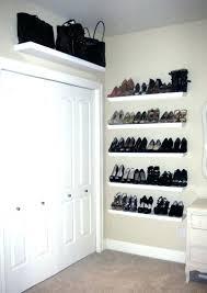 Shoe Rack For Closet Door White Shoe Shelves Best 8 Closet Door Ideas To Styles Your Home