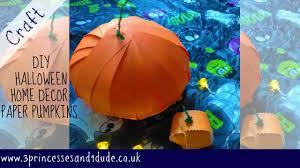 Halloween Ornaments Uk Halloween Decor Craft Paper Pumpkins Youtube