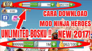 tutorial hack ninja heroes cara download mod ninja heroes unlimited gold new 2017 youtube