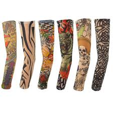 automotive tattoo sleeve amazon com set of 4 nylon tattoo sleeves tribal inked costume