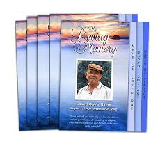 funeral program printing services 8 sided graduated programs design professional printing printer
