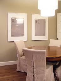 Dining Room Chair Slipcovers In Sure Fit Cotton Duck Shorty Dining - Short dining room chair covers
