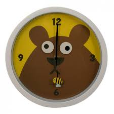 wanduhr kinderzimmer wanduhr bär mit beweglichen augen kikkerland uhr googly clock