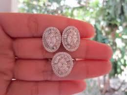 diamond earrings philippines 7 50 carat illusion diamond white gold earrings ring set 18k