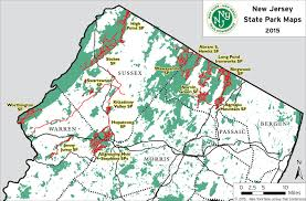 parks map nj state park maps trail conference