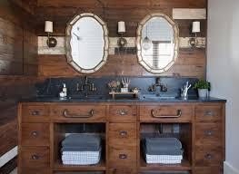 Rustic Bathroom Walls - rustic wood pillars design ideas
