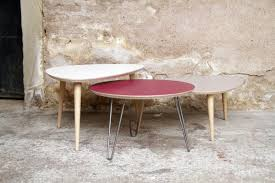 made in france table basse tripode gigognes sur mesure
