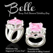 Pink Diamond Wedding Ring by Second Life Marketplace Exquisite Belle Pink Diamond Wedding Ring