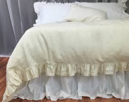 white ruffle duvet cover natural linen linen bedding ruffle