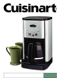 cuisinart coffeemaker dcc 1200 user guide manualsonline com