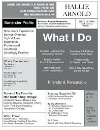 best bartender resume sample best resume sample download as doc