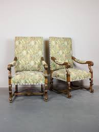 High Backed Armchairs Antique High Back Chairs With Arms