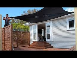 how to put up a shade sail mitre 10 easy as youtube