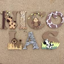 popular items for safari nursery decor on etsy wooden letters