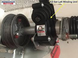 garage door winding rods what is the ez set spring system