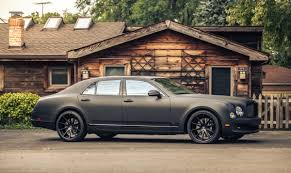 matte bentley spotlight the matte black mulsanne crewe craft