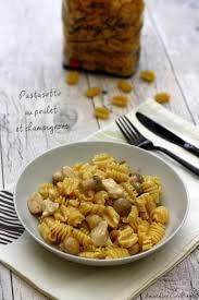 cuisiner les pates pastasotto au poulet et chignons amandine cooking