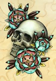skull flower designs best designs