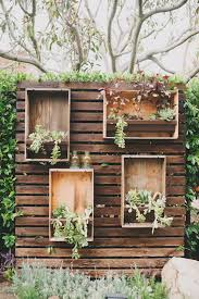 wedding backdrop rustic rustic wood pallets plants in boxes wedding backdrop deer pearl