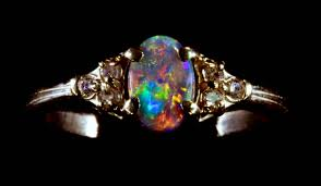 black opal engagement rings black opal engagement ring choose your own solid black