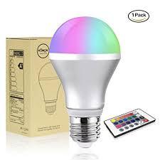 led light bulb savvypixel 5w e26 rgb color changing