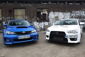 subaru wrx offroad the big debate subaru wrx sti or mitsubishi lancer evolution