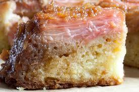 rhubarb and rose upside down cake the garum factory