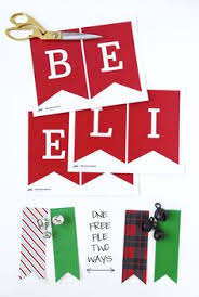 printable believe banner one free believe banner two ways christmas banners free