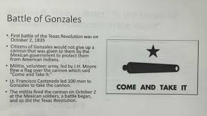 Gonzales Flag Major Events Of The Texas Revolution Youtube