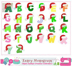 Letters Designs For - letters appliquesanta claus monograms