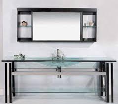 Glass Bathroom Vanity Wasauna Was 0001 Modern Bathroom Vanity Tempered Glass Basin Oak