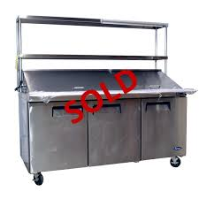 48 inch sandwich prep table used atosa refrigerated mega top prep table 3 door 72 wide with