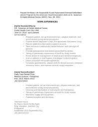 Nurse Aide Resume Objective Dental Assistant Objective For Resume Medical Certified Dental